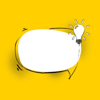 Speech Bubble With Lamp