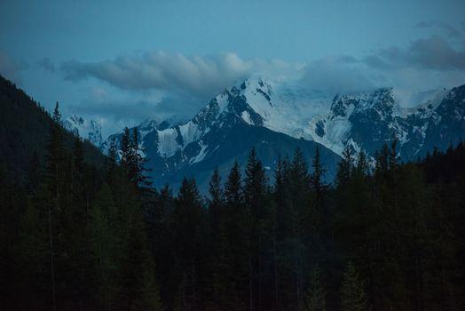 View on the snowy peak