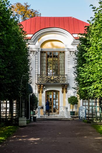Architecture in Petergof, intercity municipality as part of the Petrodvorets district of the city of federal significance St Petersburg