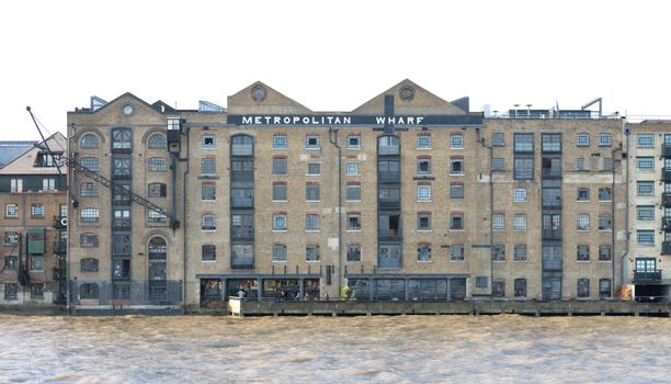 Renovated industrial building along the Thames