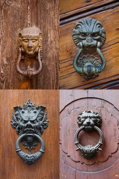 Ancient italian door knockers.