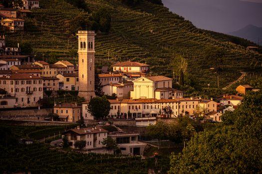 Prosecco region, Sunset in Santo Stefano