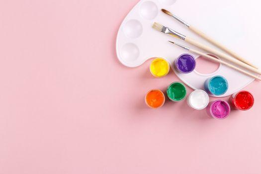 Colorful watercolor palette