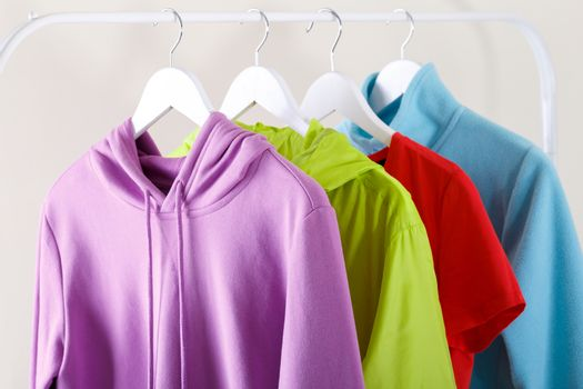 Colorful sports hoodie and T-shirt