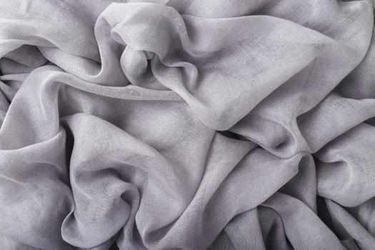 Soft grey cotton fabric