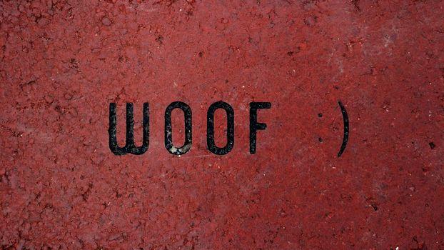 Woof - Humorous Message