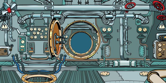compartment of the spacecraft or submarine