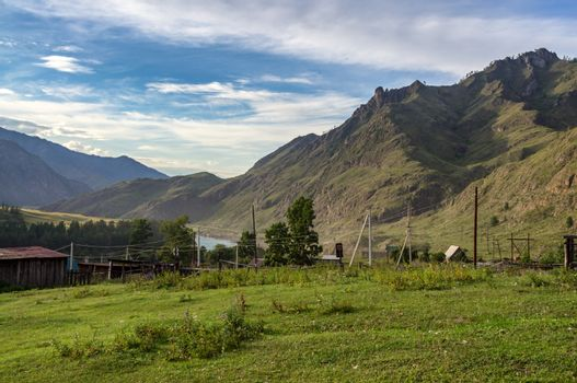 Mountain landscape in the summer in the Altai