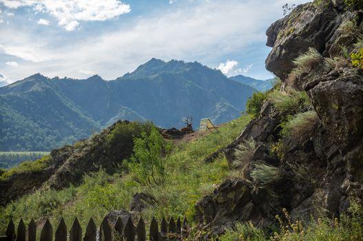 Altai mountain landscape in summer