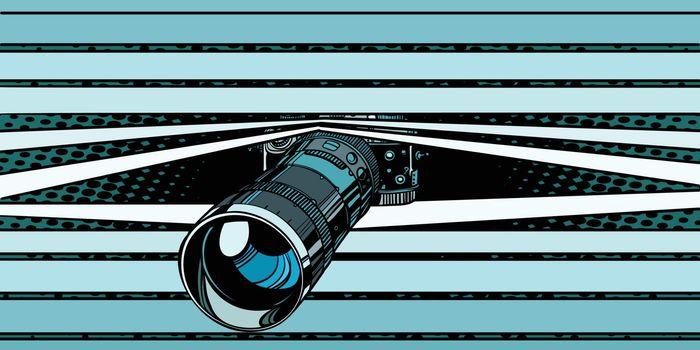 photo camera peeping surveillance. privacy
