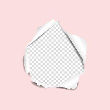 Torn Pink Paper
