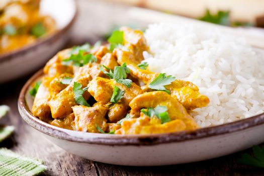 Bowl Of Homemade Chicken Curry