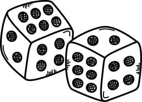 gamble dice sketch doodle