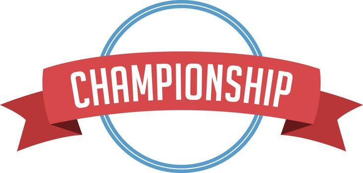 retro vintage badge label championship