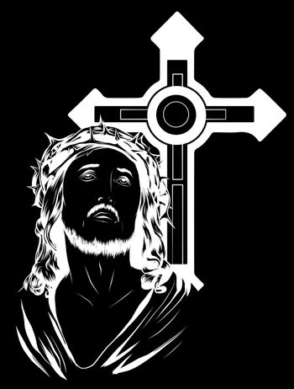 illustration Jesus Christ Face, art vector design