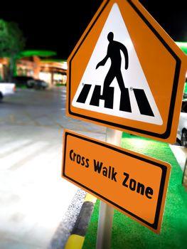 Pedestrian Cross Walk Sign