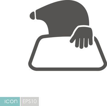Mole icon for garden craft
