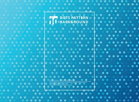 Abstract technology dots pattern on blue background. Vector illustration