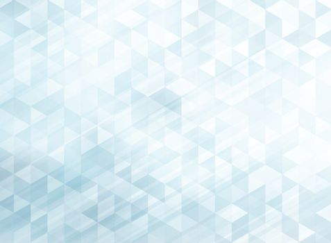 Abstract striped geometric triangles pattern light blue color background and texture with lighting effect. Vector illustration