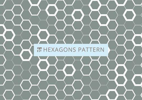 Abstract white hexagonal pattern on gray background. Honeycomb design. Chemistry hexagons modern stylish texture. Vector illustration