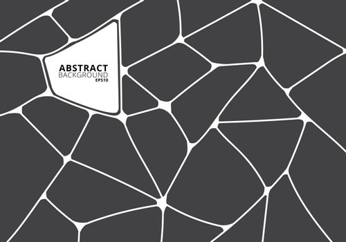 Abstract gray and white geometric voronoi background. Polygonal Mosaic. Vector illustration