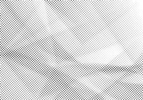 Abstract gray and white halftone background. Template dots pattern for modern style design. Vector illustration