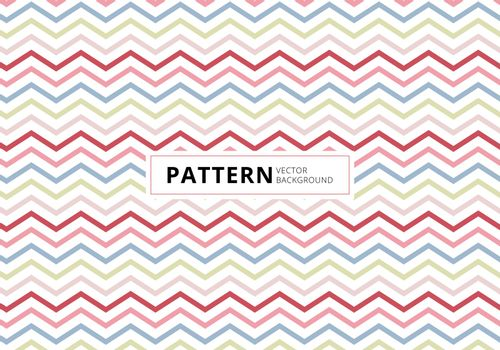 Abstract blue, pink, red color chevron pattern on white background. Vector illustration