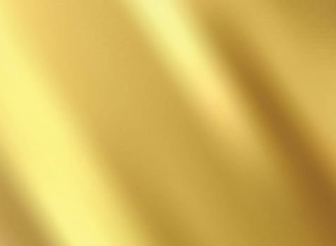 Gold satin and silk cloth fabric crease background and texture. Vector illustration