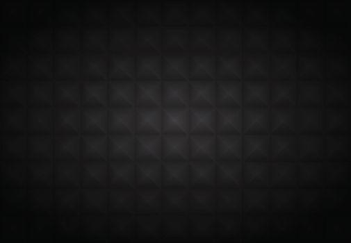 Abstract 3D black geometric polygon pattern on dark backgrund. Vector illustration