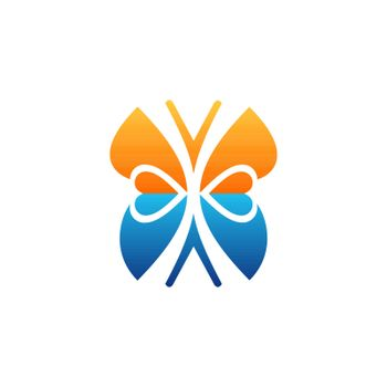 butterfly logo beauty lifestyle symbol icon vector design illustration