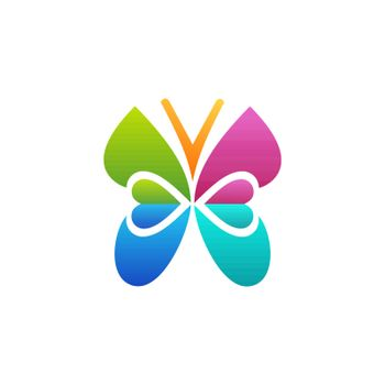 butterfly logo beauty concept symbol icon vector design illustration