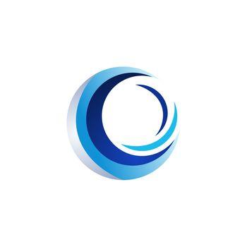 circle elements logo, wave sphere symbol icon vector design illustration