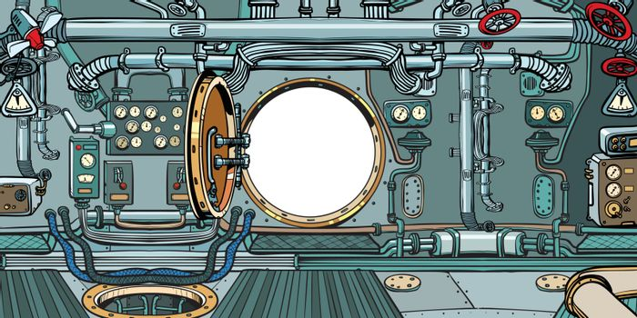 compartment or command deck of a submarine