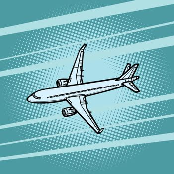 aircraft air transport blue background