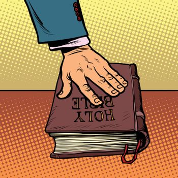 swearing on the Bible. court and religion