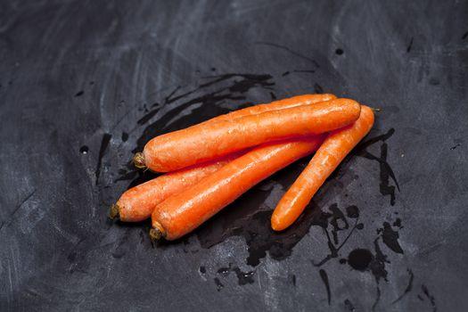 Fresh organic carrots.