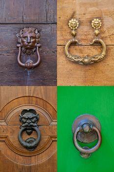 Ancient italian door knockers and handles