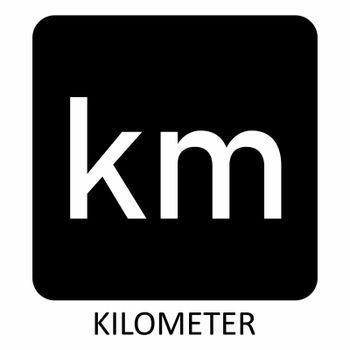 Kilometer symbol illustration