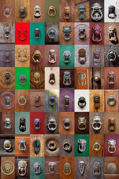 Ancient italian door knockers and handles collection.
