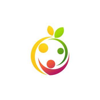 health and fun family logo symbol icon vector design illustration