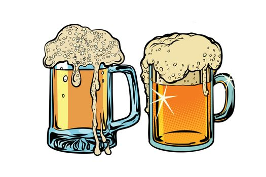 Beer foam isolate on white background