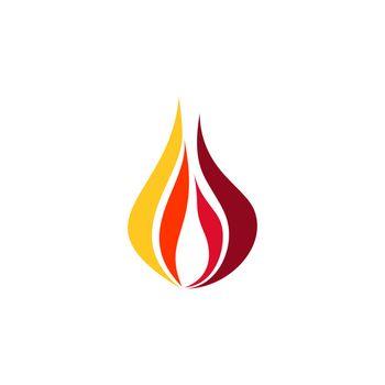 hot fire flame logo symbol icon vector design illustration