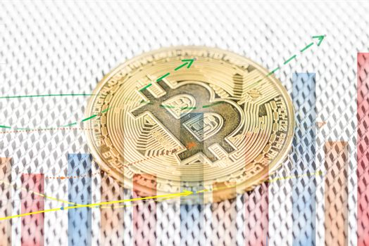 Bitcoin gold coin cryptocurrency physical coin