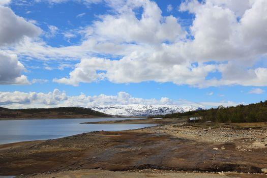Spring arctic landscape