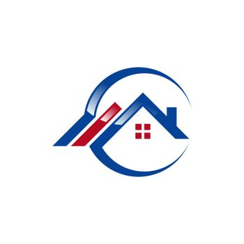circle home logo, global house real estate logo symbol icon, letter G construction buildings logo symbol icon vector design illustration