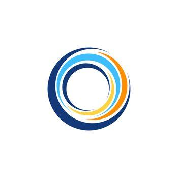 abstract swirl round logo symbol icon, global circle sphere elements logo symbol icon vector design