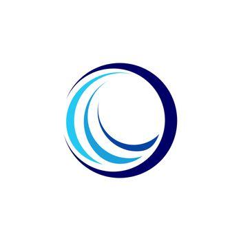 global circle sphere elements logo symbol icon, abstract swirl round logo symbol icon vector design illustration