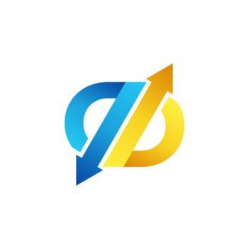 arrow exchange letter b logo symbol icon, arrows letter q abstract business logo vector design illustration