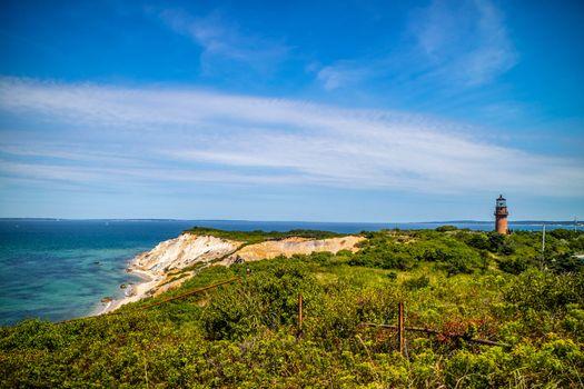 The famous Gay Head Cliffs in Cape Cod Martha's Vineyard, Massachusetts