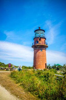 The famous Gay Head Light in Cape Cod Martha's Vineyard, Massachusetts